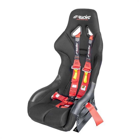 Kit omologato FIA completo di sedile con staffa e cintura rossa